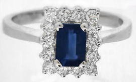 Princess Diana Sapphire and Diamond Engagement Ring