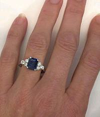 3 carat Sapphire Ring in 14k