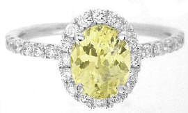 Natural Yellow Sapphire Engagement Rings