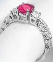 vintage rubellite engagement rings in 14k