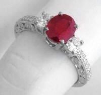July birthstone Engagement Ring