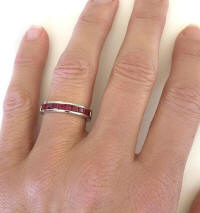 Fine Princess Channel Set Burmese Ruby Ring