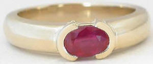 0.60 carat Genuine Ruby Solitaire in 14k yellow gold