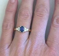Classic Sapphire and Diamond Ring in 14k gold