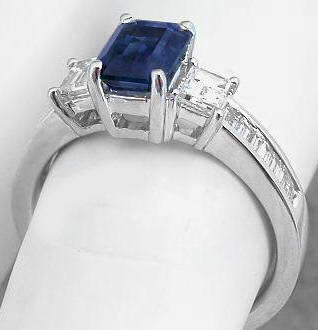 genuine sapphire and diamond rings - Sapphire And Diamond Wedding Rings