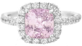 Natural Baby Pink Sapphire Engagement Ring
