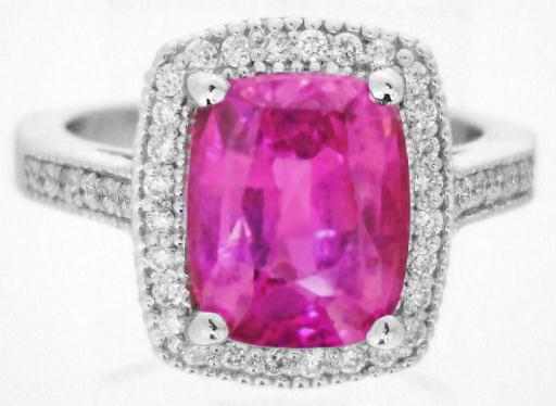 Hot Pink Sapphire And Diamond Ring Myjewelrysource Gr 5891