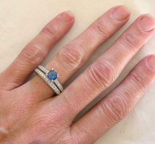 ceylon sapphire engagement rings in 14k - Sapphire And Diamond Wedding Rings