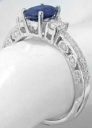 Vintage Filigree Engagement Rings with Sapphire