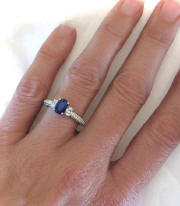 Antique Sapphire Engagement Rings in 14k Gold