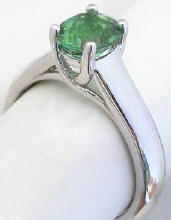 Oval Seafoam Green Tourmaline Solitaire Rings