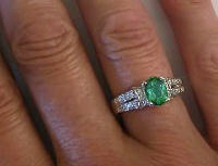 Oval Seafoam Green Tourmaline Engagement Rings