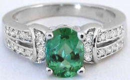 Seafoam Green Tourmaline Engagement Rings