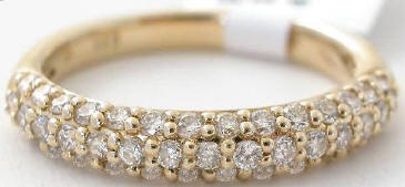 0.69 ctw Pave Diamond Stackable Band in 14k Yellow Gold