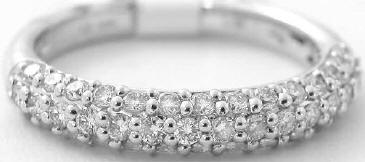 0.68 ctw Pave Diamond Stackable Band in 14k White Gold