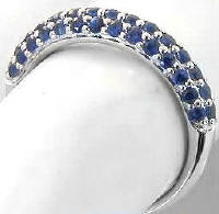 Stackable Blue Sapphire Ring in 14k gold