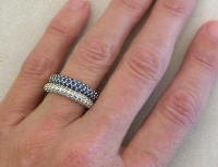 Stackable Rings in 14k white gold
