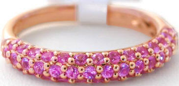 Stackable Pave Pink Sapphire Ring
