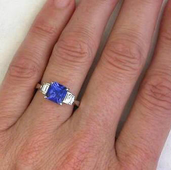 ring rings tanzanite halo cut wedding engagement cocktail diamond cushion