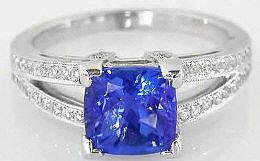 AAA Grade Tanzanite Engagement Rings