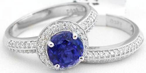 tanzanite engagement rings - Tanzanite Wedding Rings