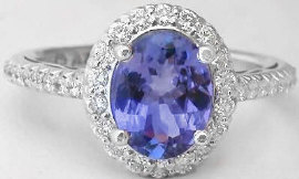 Natural Oval Tanzanite Rings