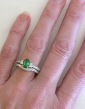 antique seafoam green tourmaline engagement rings