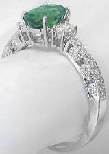Vintage Seafoam Tourmaline and Diamond Engagement Ring
