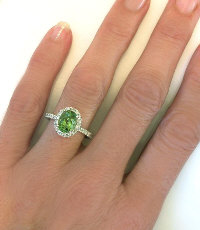 Seafoam Tourmaline Diamond Engagement Rings