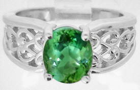 Seafoam Green Tourmaline Solitaire Rings