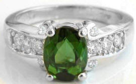 Green Tourmaline Engagement Rings