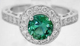 seafoam tourmaline engagement rings