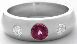 Mens Garnet Wedding Ring