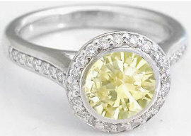 Bezel Set Yellow Sapphire Engagement Rings