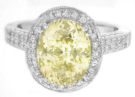 Oval Yellow Sapphire Ring