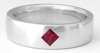 Men's Ruby Wedding Band