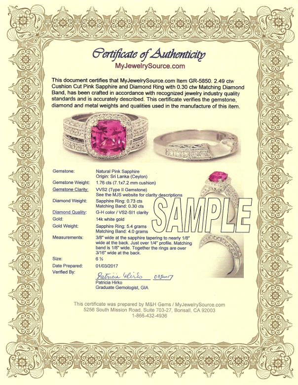 Myjewelrysource Certificates Of Authenticity