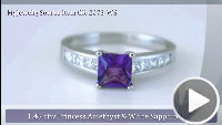 video for Amethyst Ring GR-2073-WS